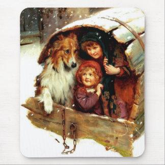 Regalo Mousepads del navidad del arte del vintage