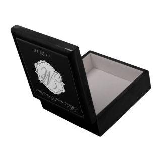 Regalo negro del asistente de caja del recuerdo de cajas de regalo