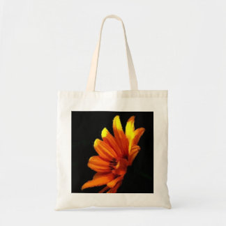 Regalo negro floral anaranjado del favor de fiesta bolsa tela barata