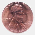 Regalo numismático pegatinas
