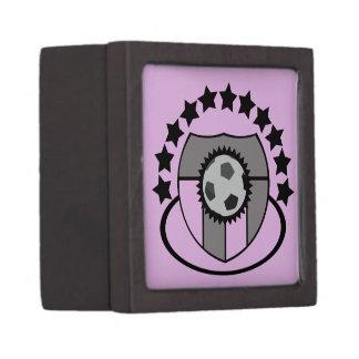 Regalo o premio de encargo de la liga de fútbol - cajas de recuerdo de calidad
