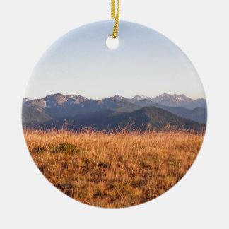 Regalo olímpico del parque nacional de Ridge del Adorno Navideño Redondo De Cerámica