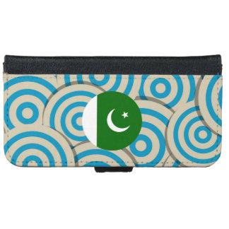 Regalo paquistaní femenino de la bandera funda cartera para iPhone 6