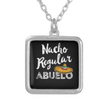 Regalo para Abuelo Mexican Grandpa Fathers Day Silver Plated Necklace