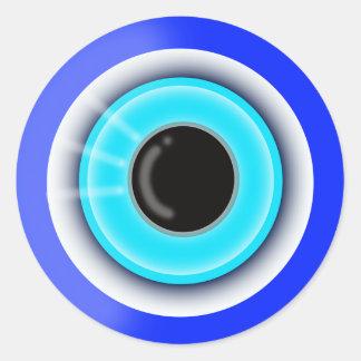 Regalo para amado - símbolo del amuleto del mal de pegatina redonda