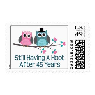 Regalo para el 45.o pitido del aniversario de boda timbres postales