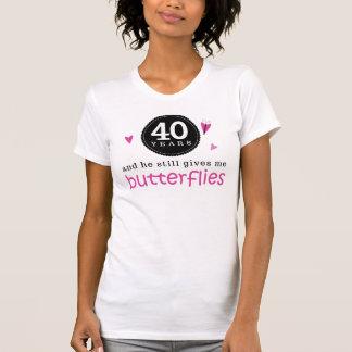 Regalo para la 40.a mariposa del aniversario de bo camisetas