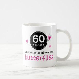 Regalo para la 60.a mariposa del aniversario de bo taza
