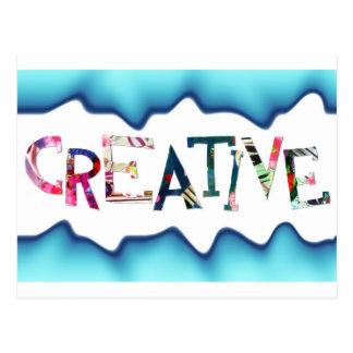 Regalo para la persona creativa postales