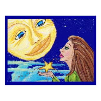 Regalo para la postal de la luna