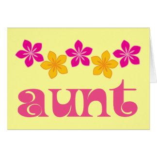 Regalo para la tía felicitacion