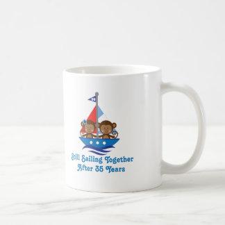 Regalo para los 35tos monos del aniversario de bod taza de café
