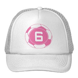 Regalo para mujer del número 6 del jugador de fútb gorras de camionero
