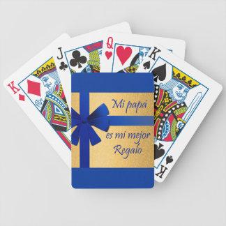 Regalo para padre baraja cartas de poker