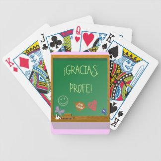 Regalo para profesor personalizable. barajas de cartas
