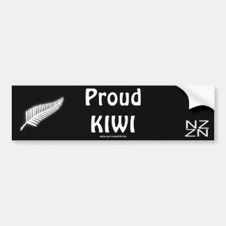 Regalo patriótico del emblema nacional del helecho pegatina para auto
