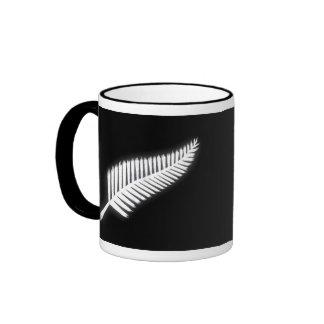 Regalo patriótico del emblema nacional del helecho tazas de café