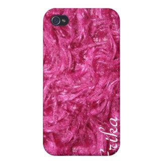 Regalo peludo rosado de la cubierta de Iphone 4 iPhone 4/4S Fundas