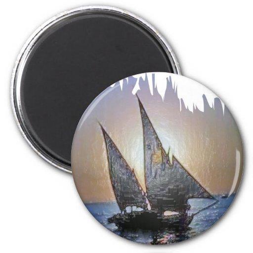 Regalo perfecto:  Viaje del viaje de la vela Imán De Frigorifico