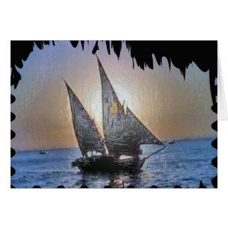 Regalo perfecto:  Viaje del viaje de la vela Tarjeta Pequeña