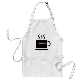 Regalo personalizado amante negro del café con lec delantal