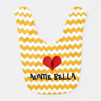 regalo personalizado babero de la tía del corazón