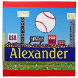 Regalo personalizado béisbol de 2012 de los niños  servilleta de papel