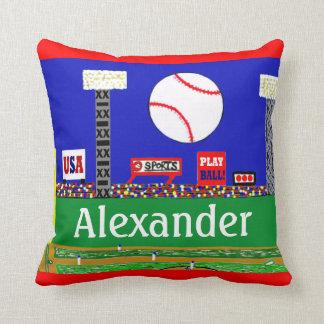 Regalo personalizado béisbol de la almohada de