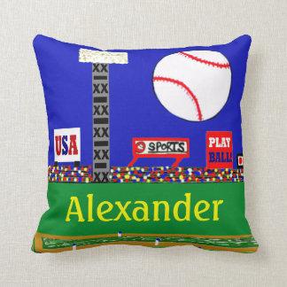 Regalo personalizado béisbol de la almohada de cojín decorativo