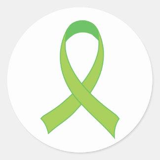 Regalo personalizado de la conciencia de la verde pegatina redonda