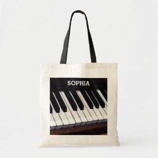 regalo personalizado de la música bolsa tela barata
