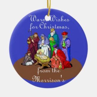 Regalo personalizado del ornamento del navidad par