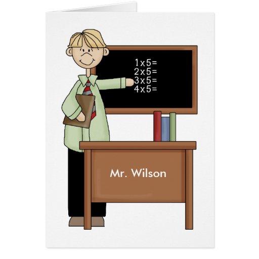 Regalo personalizado del profesor tarjeta de felicitación