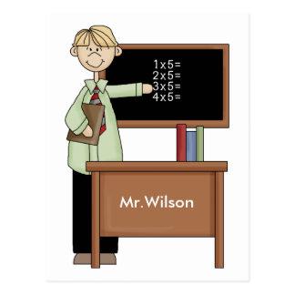 Regalo personalizado del profesor postales