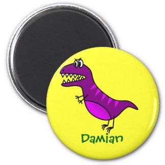 Regalo personalizado dinosaurio lindo divertido de iman de frigorífico