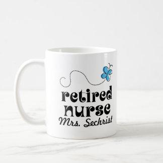 Regalo personalizado enfermera jubilado taza básica blanca