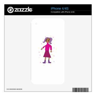 Regalo personalizado lindo para las niñas calcomanías para iPhone 4S