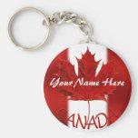 Regalo personalizado llavero de Canadá del recuerd