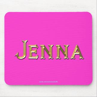 Regalo personalizado Nombre-Calificado JENNA Mouse Tapete De Raton