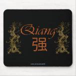 Regalo personalizado nombre chino Mousepad de QIAN Alfombrillas De Ratones