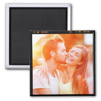 Regalo personalizado personalizado de la foto imán cuadrado