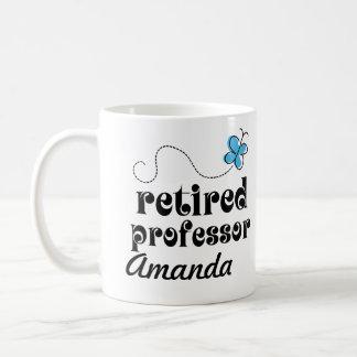 Regalo personalizado profesor jubilado taza básica blanca
