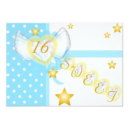 """Regalo-Personalizar del dulce dieciséis del amor Invitación 5"""" X 7"""""""