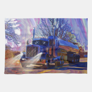 Regalo pesado del transporte del camión del petrol toalla de cocina