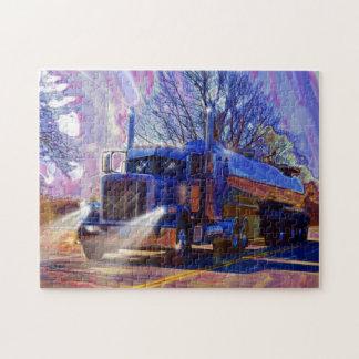 Regalo pesado del transporte del camión del petrol puzzle