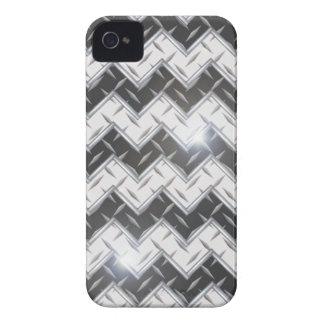 regalo plateado de metal del diamante 3D del cromo Funda Para iPhone 4 De Case-Mate