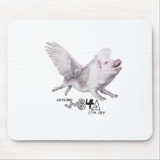 Regalo popular del cerdo real del vuelo cuando los mouse pads