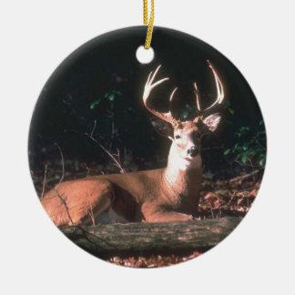 Regalo popular del dólar de los ciervos de adorno navideño redondo de cerámica