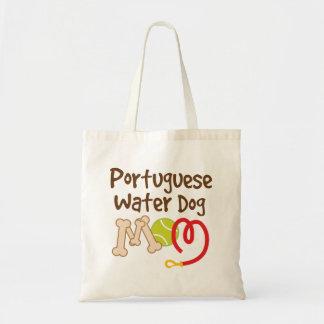 Regalo portugués de la mamá de la raza del perro bolsa tela barata