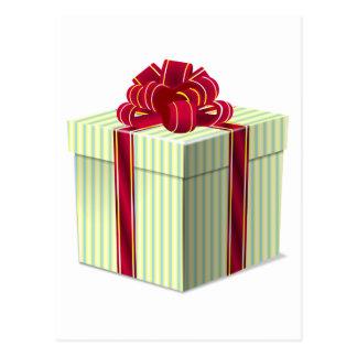 Regalo/presente rayados brillantes con la cinta postal